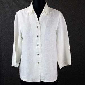 Orvis White Linen Jacket size 10-12 Excellent